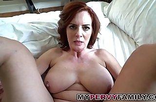 Horny Busty Milf Fucks Step Sons Big Cock!