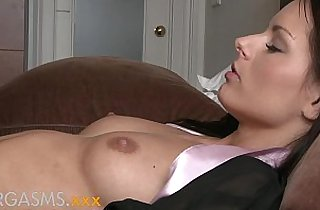 Orgasms Hot lesbian action as two beautiful brunettes explore each others bodies