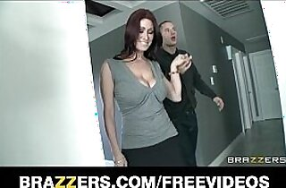 Real estate agent with black HUGE tits fucked by her client