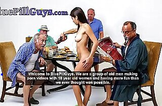 Old Dudes Have Fun With Hot Ginger Teen Dolly Little