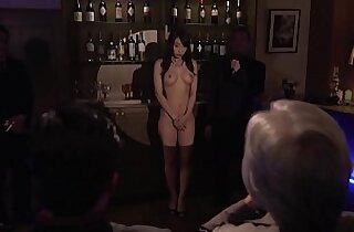 Subtitled cfnm Japanese Kurea Hasumi wife slave auction stripping