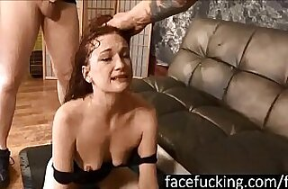 new Chastity Mae swallows cocks deep and pukes hard