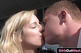 Aussie blondie fucked in hotel room