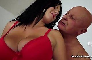 Bald Grandpa Fucking a Hot Teen