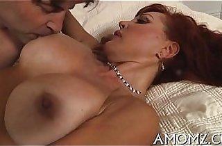 Hot mom receives pleasure of cock