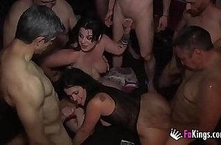 Gangbang. stallions and another Swinger Party with Montse and Maria.