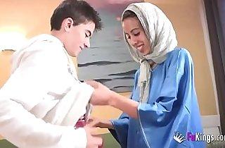 We surprise Jordi by gettin him his first Arab girl! Skinny blonde teen hijab