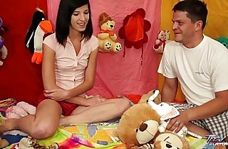TeenyPlayground Teen gets facial and fucking from behind