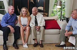 Molly Mae Fucks Grandpas For Money